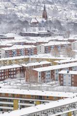 Buildings at winter