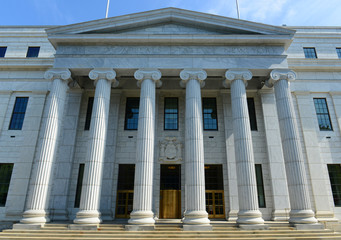 New York Court of Appeals Building was built with Greek Revival style in 1842 in downtown Albany, New York State, USA.
