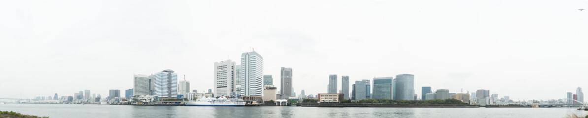 写真素材「東京湾景・港区のビル群」