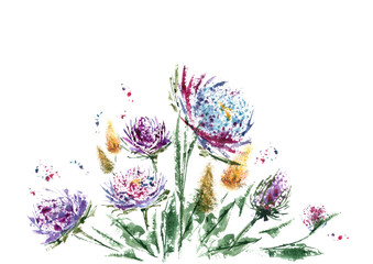 Flower and watercolor are great couple for design invitation cards