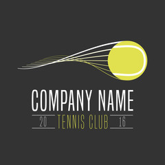 Tennis club vector logo