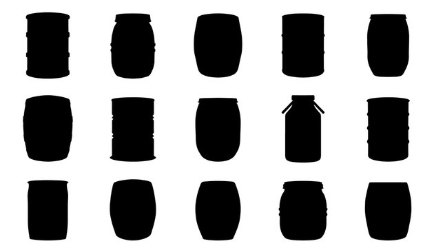 barrel silhouettes