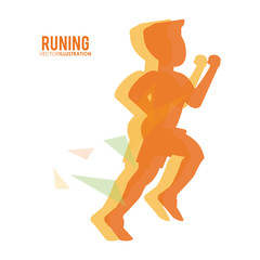 Running design. fitness concept. white background