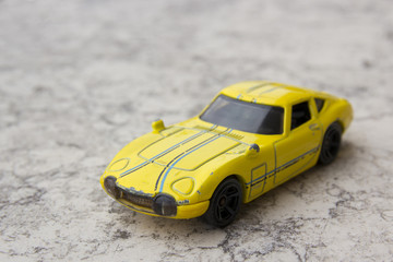 Model of yellow sports car