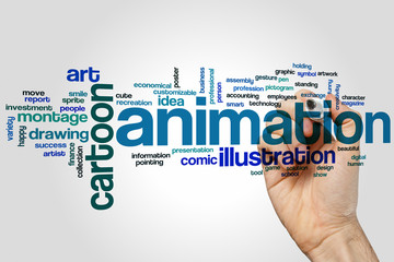 Animation word cloud