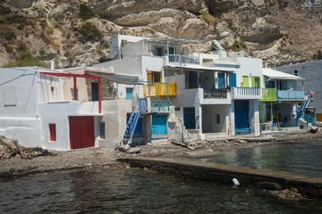 Stores photo Moyen-Orient Picturesque fishing village of Klima on the island of Milos