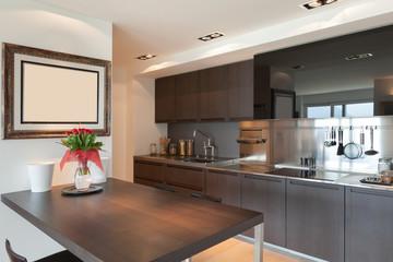 contemporary domestic kitchen