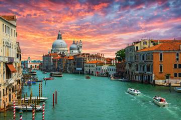 Foto op Plexiglas Venetie Grand Canal and Basilica Santa Maria della Salute .Venice.Italy