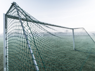 Goal on playing field