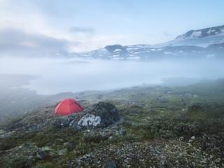 Tent on coast