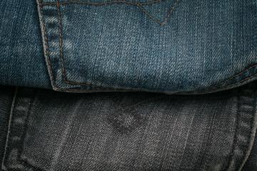 Blue jeans back pocket. Background.