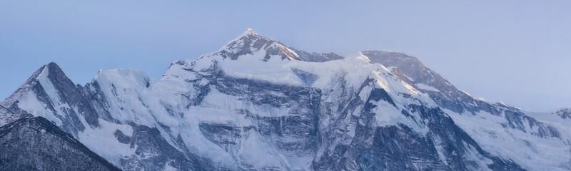 view of annapurna II peak, annapurna circuit trek, nepal Wall mural