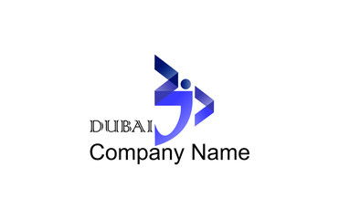 DUBAI Word in arabic calligraphy in a contemporary style can be used as logo for that companies has Dubai in there logo and for special events based in dubai