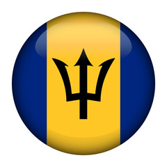 Flag of  Barbados Glossy Button