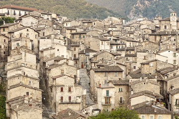 View of Scanno town