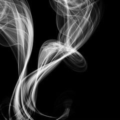Abstract smoke isolated on black, vector illustration