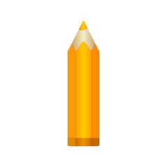 Big orange pencil. EPS10 Vector
