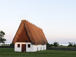 Old house with thatched roof