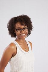 Happy Black woman smiling