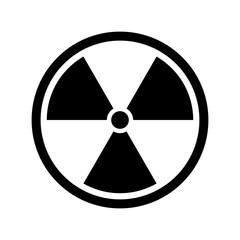 Radiation icon. Nuclear symbol. Vector illustration