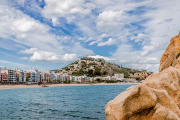 Les rochers et la plage de Blames