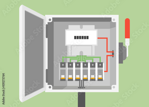 U0026quot Breakers Switch Vector Flat  Fuse Vector  Electric Box