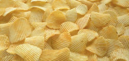 Rippled organic potato chips