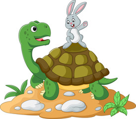 cartoon turtle and rabbit