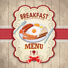 Vintage Breakfast poster design