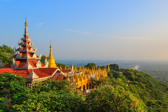 A panoramic view of Mandalay from the top of Mandalay Hill,Myanmar