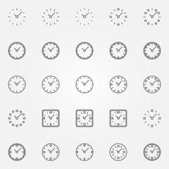 Clock icons set