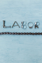 Labor design idea vertical style