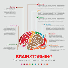 Brainstorming sprit color infographic
