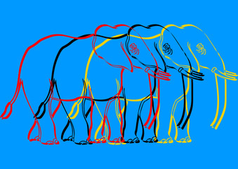 Pop art, éléphant