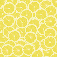 Seamless pattern background with slices of lemon.