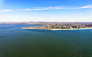 Aerial view of Long Island in New York