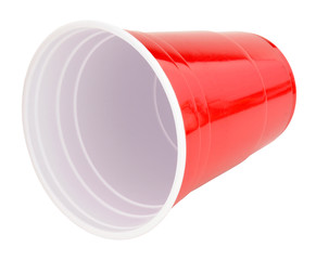 Red Plastic Disposable Drinking Cup