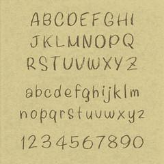 アルファベット・クラフトペーパー