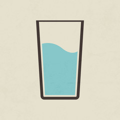Glass of water icon - Vector