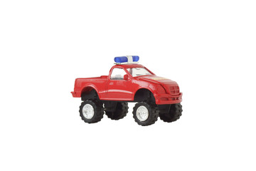 Toy car with a flashing light.