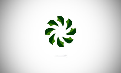 logo abstract rotating green