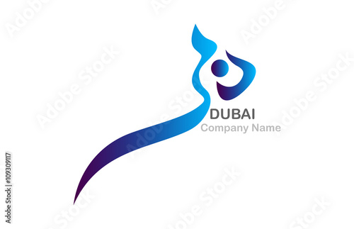 Quot dubai word in arabic calligraphy a contemporary style