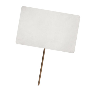 blank paper sheet on wooden stick