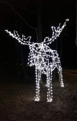LED lights in the shape of an elk