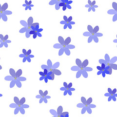 Abstract Simple Flower Seamless Pattern Background