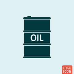 Barrel oil icon isolated