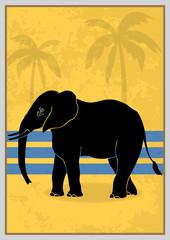Art déco, éléphant
