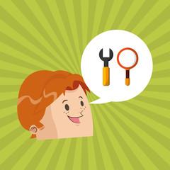search design. lupe icon. multimedia concept