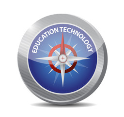 education technology compass sign concept