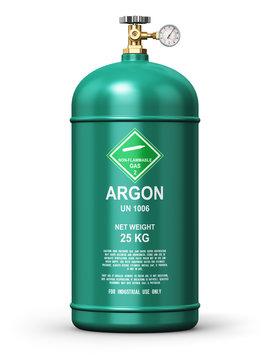 Liquefied argon industrial gas container